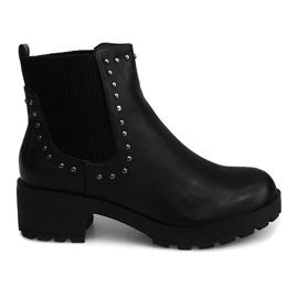 Černá Motorové boty s cvočky 1643 černé