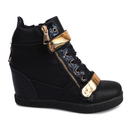 Wedge Sneakers Sheet A89 Černá
