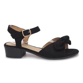 Černá Sandály na vysokém podpatku Black Noemia