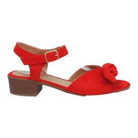 Červená Sandály na vysokém podpatku Red Noemia