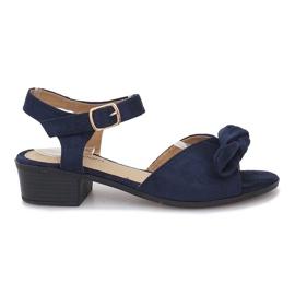 Válečné loďstvo Noemické tmavě modré sandály na vysokém podpatku