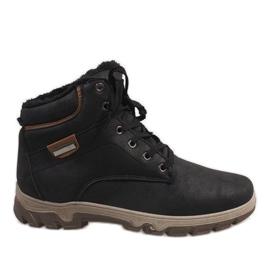 Černá Černé izolované sněhové boty 1792