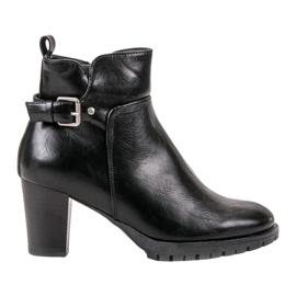Vinceza Elegantní podzimní boty černá