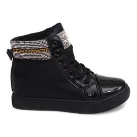 Wedge Sneakers 16-039 Černá