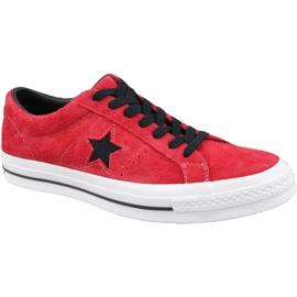 Červená Converse One Star M 163246C boty červené