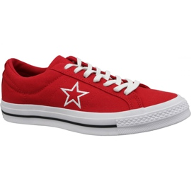 Converse One Star Ox boty M 163378C červená