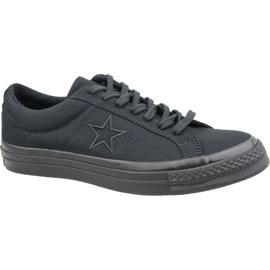 Černá Converse One Star Ox M 163380C boty černé