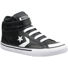 Černá Converse Pro Blaze Strap Hi Jr 663608C boty
