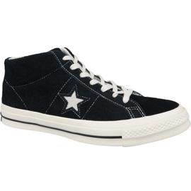 Černá Converse One Star Ox Mid Vintage Suede M 157701C boty