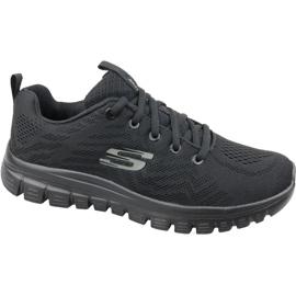 Černá Skechers Graceful Připojte boty W 12615-BBK
