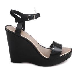 Wedge Heels Open 88-59 Black černá