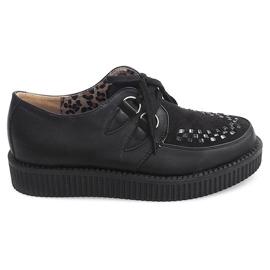 Černá Boots Creepers On Platform 061ss Black