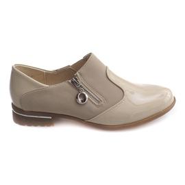 Hnědý Klasická slip-on obuv 15312 Béžová