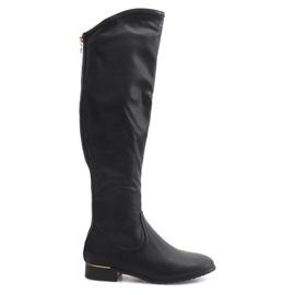 Vysoké štíhlé boty A7898-38 Černá