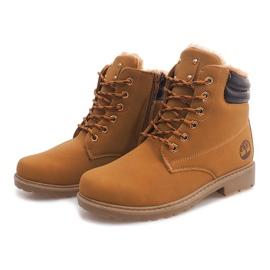 Hnědý Izolované dřevěné boty BED01 Camel