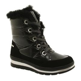 Černá Černé membránové boty Caprice 26221