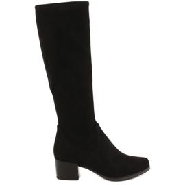 Černá Dámské vysoké boty Caprice 25506