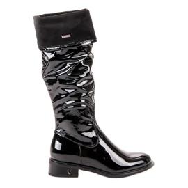 Lakované boty VINCEZA černá
