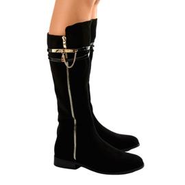 Černá Černé izolované boty 7570-PG