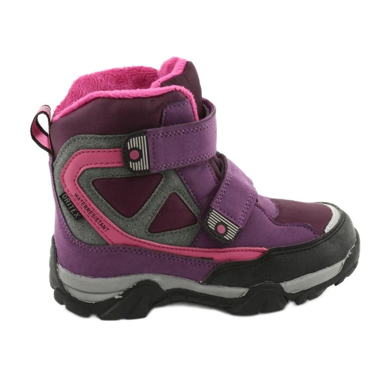 Boty na suchý zip MtTrek s membránou 18-501-011 nachový růžový šedá