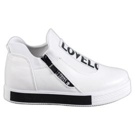 SHELOVET bílá Sportovní obuv Love