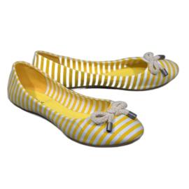 Pruhované baleríny se žlutým lukem 16 ° C
