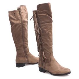 Izolované semišové boty Boho B13H Khaki