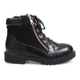 Glany Lace-up Boots 1551 Černá