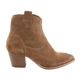 Hnědý Anabelle 1466 Camel semišové dámské boty