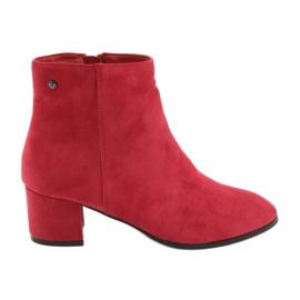 Červená Filippo 316 semišové červené boty