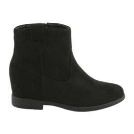 Filippo černá Černé boty se zipem 1052