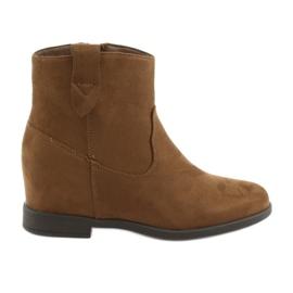 Filippo hnědý Hnědé kotníkové boty 1052