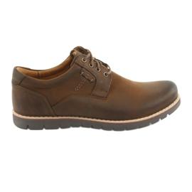 Krajkové boty Riko 761 hnědé hnědý