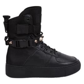 Černá Y-025 Černá sportovní obuv