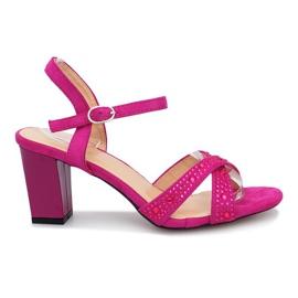 Nachový Aliento fialové sandály na vysokém podpatku