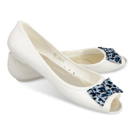 Baletky s otevřenou špičkou sandálů 092D bílá