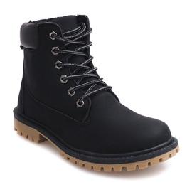 Černá Podzimní boty Timberki B788 Black