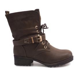 Zelená Boots Workery 6616 Khaki