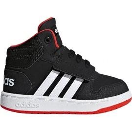 Černá Boty Adidas Hoops Mid 2.0 I Jr B75945