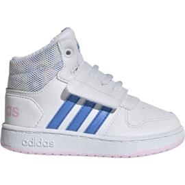 Bílá Obuv Adidas Hoops Mid 2.0 I Jr EE8550