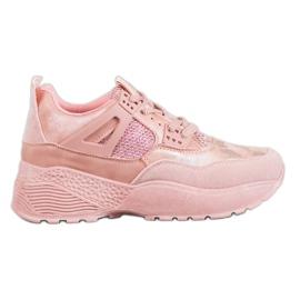 SHELOVET růžový Růžové tenisky Camo