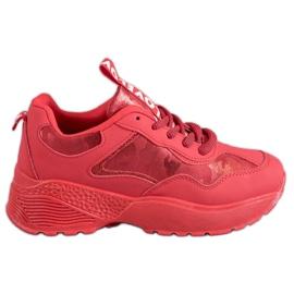 SHELOVET červená Červené Camo tenisky