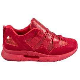 SHELOVET červená Sportovní semišová obuv