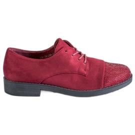 Best Shoes červená Nízké boty s krystaly