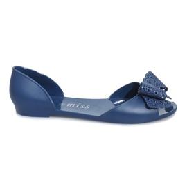Válečné loďstvo Tmavě modré sandály Melissa s lukem Delmar
