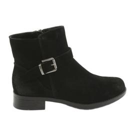 Černá Black American Club semišové černé boty SH04