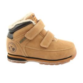 American Club Americké boty na suchý zip velblouda ES42