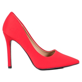 Diamantique červená Klasické červené vysoké podpatky