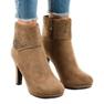Khaki semišové boty na postu SQ15