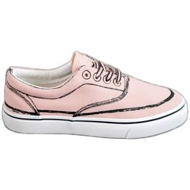 Bestelle růžový Módní tenisky